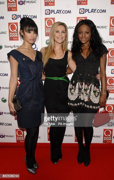 Sugababes arrive for the Q Awards 2006 at the Grosvenor House Hotel in central London PRESS ASSOCIATION Photo Picture date Monday 30 October 2006...