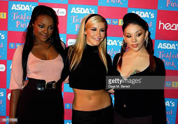 Sugababes arrive on the pink carpet for the second annual 'ASDA's Tickled Pink' charity concert raising funds for Breast Cancer Care at Royal Albert...
