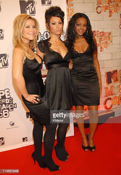 Sugababes during 2006 MTV European Music Awards Copenhagen Red Carpet Arrivals at Bella Centre in Copenhagen Denmark