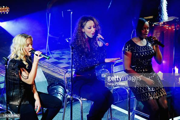 Sugababes Heidi Range Amelle Berrabah and Keisha Buchanan perform at St Philip with St Stephen church December 11 2007 Salford Manchester England