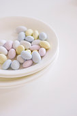 Sugar almond on plate
