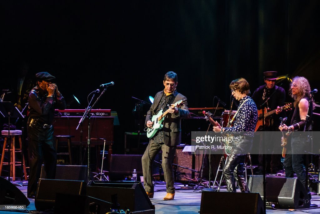 Sugar Blue, Chris Wilson, Cyril Jordan, and Waddy Wachtel perform at the 18th annual Music Masters series honoring The Rolling Stones at the State Theatre on October 26, 2013 in Cleveland, Ohio.
