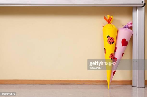 Sugar cones in classroom