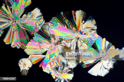 sugar crystals micrograph in abstract pattern : Stock Photo