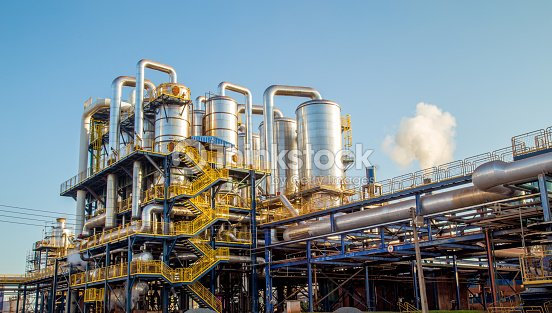 sugar factory industry line production cane process : Stock Photo