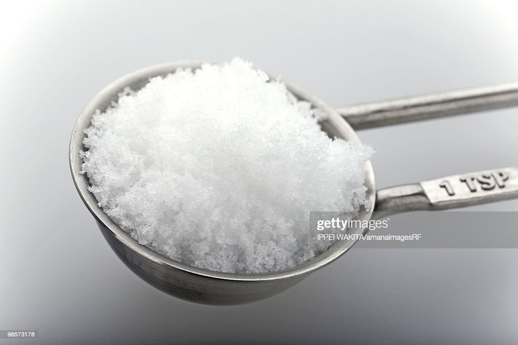 Sugar in measuring spoon