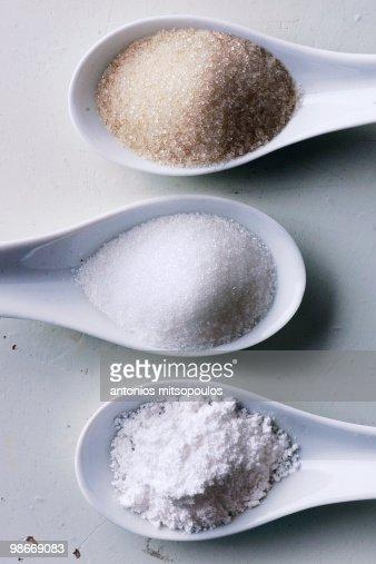 Sugar in spoons