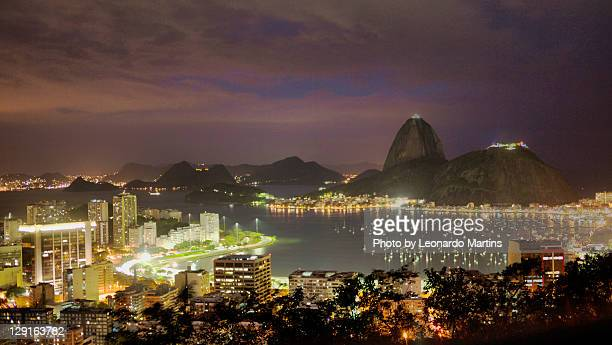 Sugar loaf mountain and Botafogo bay