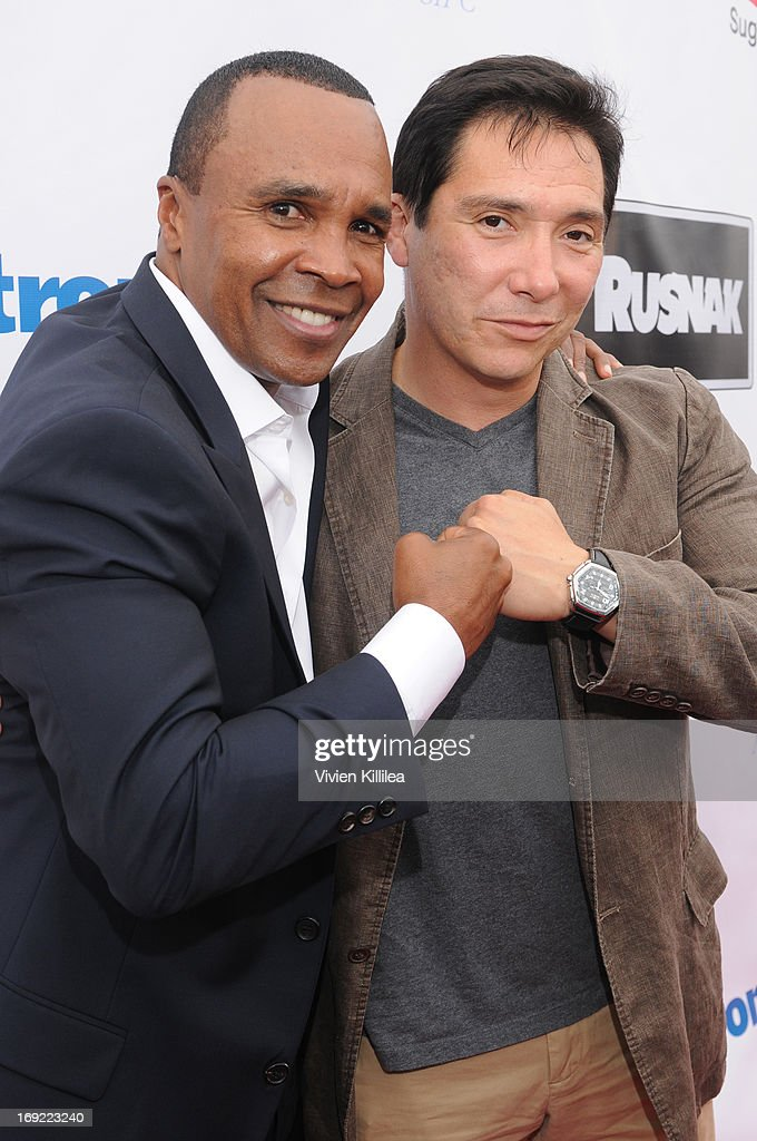 Sugar Ray Leonard and Bernito Martinez attend B. Riley & Co. & The Sugar Ray Leonard Foundation Present The 4th Annual 'Big Fighters, Big Cause' Charity Fight Night To Benefit Juvenile Diabetes at Santa Monica Pier on May 21, 2013 in Santa Monica, California.