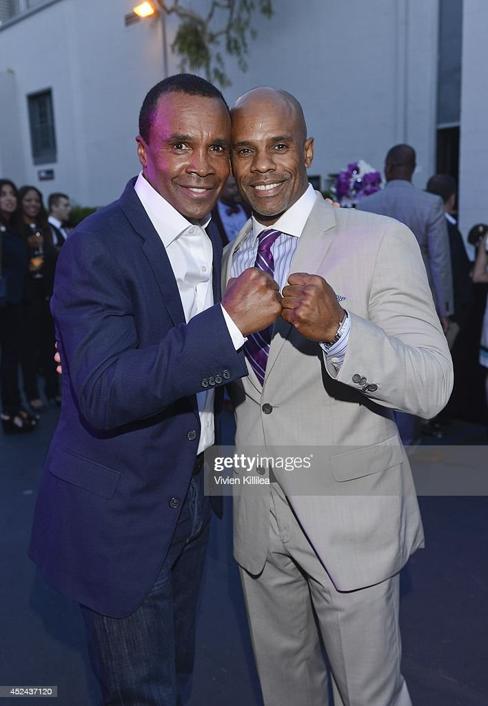 <a gi-track='captionPersonalityLinkClicked' href=/galleries/search?phrase=Sugar+Ray+Leonard&family=editorial&specificpeople=206479 ng-click='$event.stopPropagation()'>Sugar Ray Leonard</a> and Ted Bunch attend 16th Annual DesignCare To Benefit The HollyRod Foundation at The Lot Studios on July 19, 2014 in Los Angeles, California.