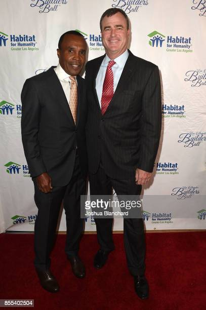 'Sugar' Ray Leonard and William Blake attend the Habitat LA 2017 Los Angeles Builders Ball at The Beverly Hilton Hotel on September 28 2017 in...