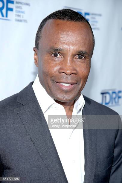 Sugar Ray Leonard attends JDRF LA's IMAGINE Gala to benefit type 1 diabetes research at The Beverly Hilton on April 22 2017 in Beverly Hills...