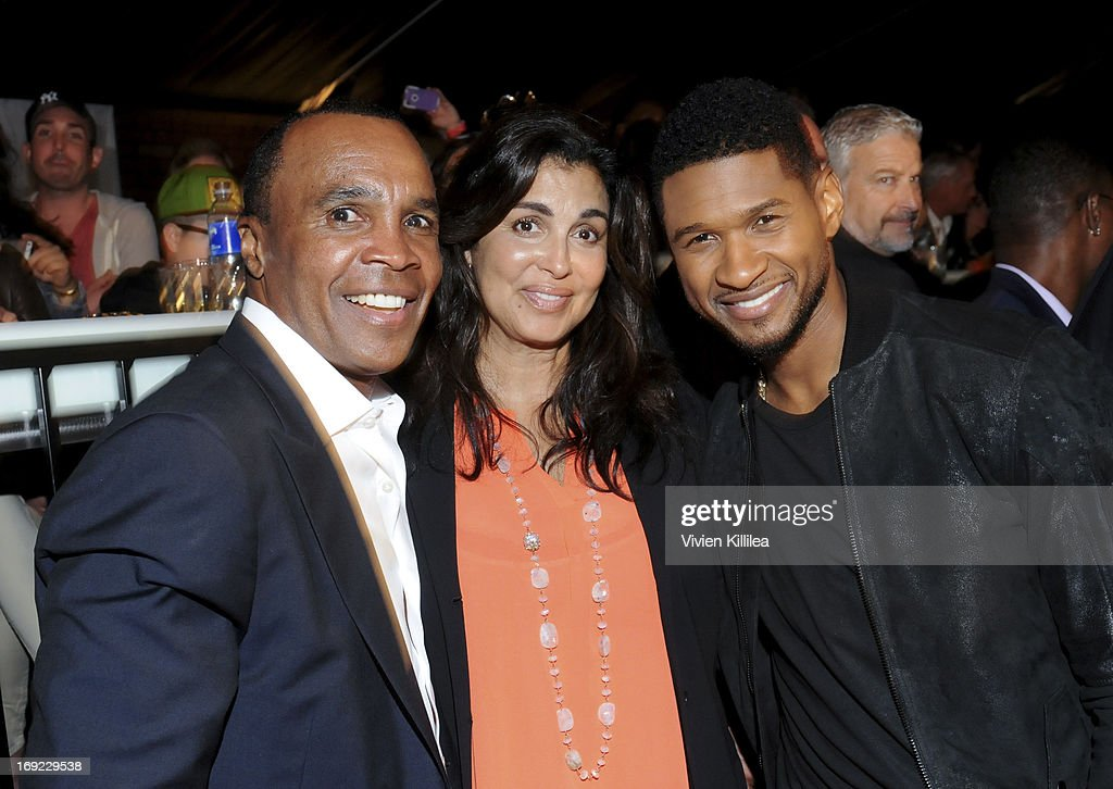 <a gi-track='captionPersonalityLinkClicked' href=/galleries/search?phrase=Sugar+Ray+Leonard&family=editorial&specificpeople=206479 ng-click='$event.stopPropagation()'>Sugar Ray Leonard</a>, Bernadette Robi and Usher attend B. Riley & Co. & The <a gi-track='captionPersonalityLinkClicked' href=/galleries/search?phrase=Sugar+Ray+Leonard&family=editorial&specificpeople=206479 ng-click='$event.stopPropagation()'>Sugar Ray Leonard</a> Foundation Present The 4th Annual 'Big Fighters, Big Cause' Charity Fight Night To Benefit Juvenile Diabetes at Santa Monica Pier on May 21, 2013 in Santa Monica, California.