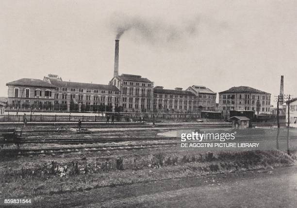 Sugar refinery Ferrara EmiliaRomagna Italy from l'Illustrazione Italiana Year XLV No 3 January 20 1918