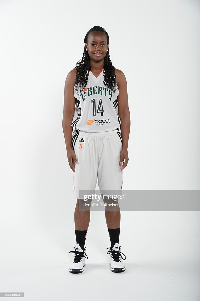 Sugar Rodgers #14 of the New York Liberty poses for a portrait during 2014 WNBA Media Day at the MSG Training Facility on May 12, 2014 in Tarrytown, New York.