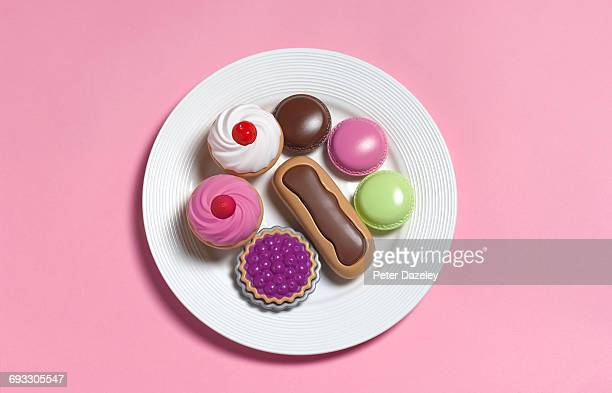 Sugar rush,toy food on plate