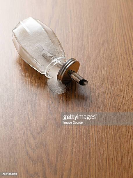 Sugar shaker on a wooden table