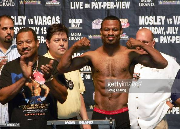 Sugar Shane Mosley's father Jack returns as his trainer and was on hand for the weighin one day before Shane and 'Ferocious' Fernando Vargas will...
