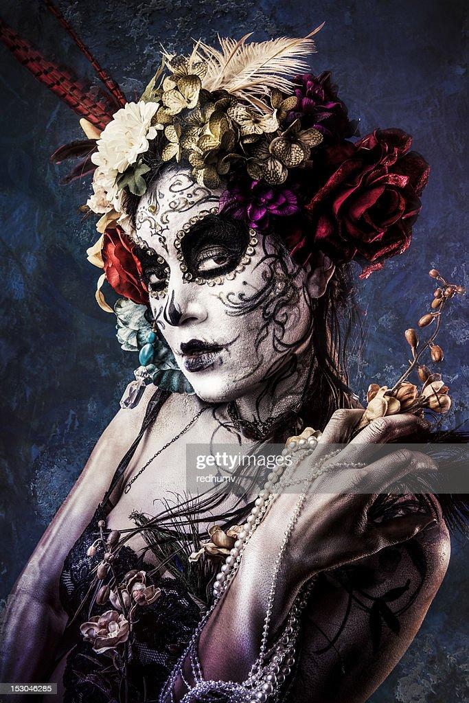 Sugar Skull Beauty : Stock Photo