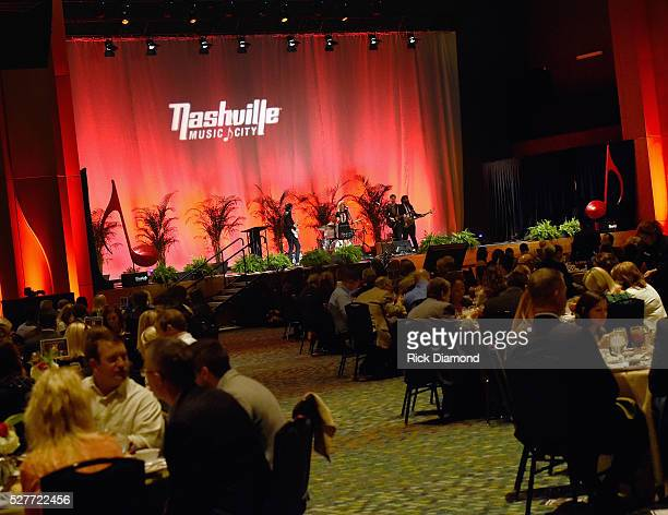 Sugar The HighLows perform during Nashville's National Tourism Week Hospitality Celebration at Music City Center on May 3 2016 in Nashville Tennessee