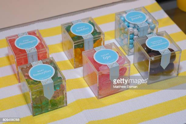 Sugarfina candy on display during a screening of Despicable Me 3 hosted by Gwyneth Paltrow and goop at Southampton Movie Theatre on July 5 2017 in...