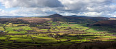 The Sugarloaf, a mountain situated north west of Abergavenny in Monmouthshire, Wales