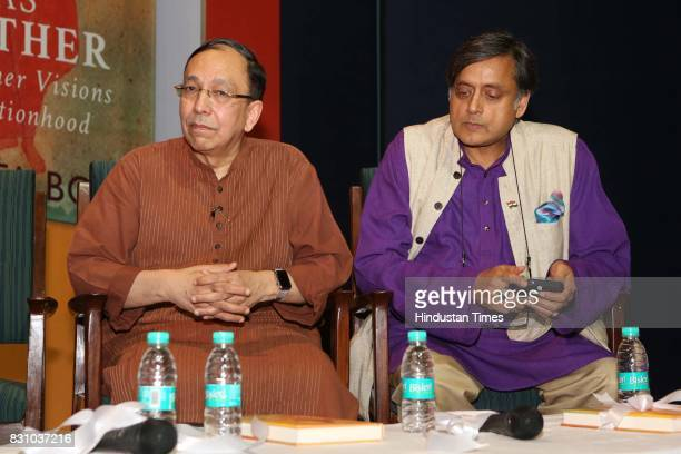 Sugata Bose and Congress MP Shashi Tharoor during the launch of a book 'The Nation as Mother And Other Visions of Nationhood' by historian and...