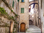 Spoleto, Italy, Dec 31 - Through the alleys and the ancient squares of the roman and medieval city of Spoleto, one of the most visited cities in Umbria, a region in the center of Italy famous for the