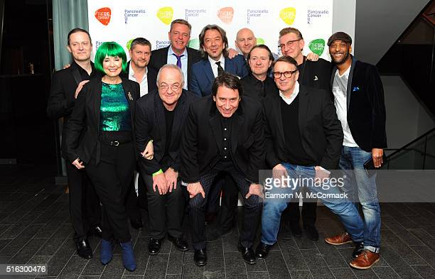 Suggs Jools Holand Chris Difford and fellow Musicians at 'An Evening With Suggs And Friends' in aid of pancreatic cancer at Emirates Stadium on March...
