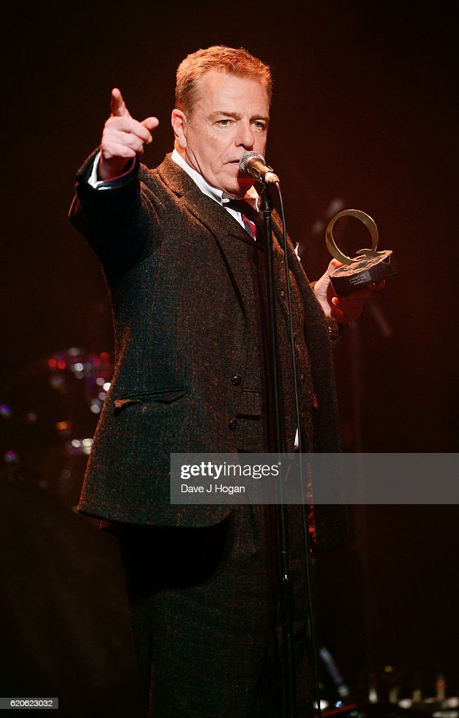Suggs of Madness accepts the Hall of Fame award during The Stubhub Q Awards 2016 at The Roundhouse on November 2, 2016 in London, England.