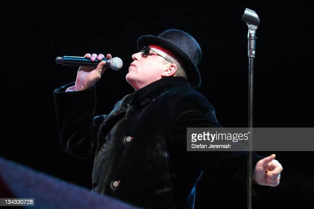 Suggs of Madness performs at the O2 Arena on December 14 2007 in London England
