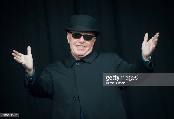 Suggs of Madness performs live on stage during V Festival 2017 at Hylands Park on August 19 2017 in Chelmsford England