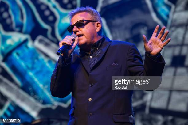 Suggs real name Graham McPherson from Madness performs during Camp Bestival 2017 at Lulworth Castle on July 29 2017 in Wareham England