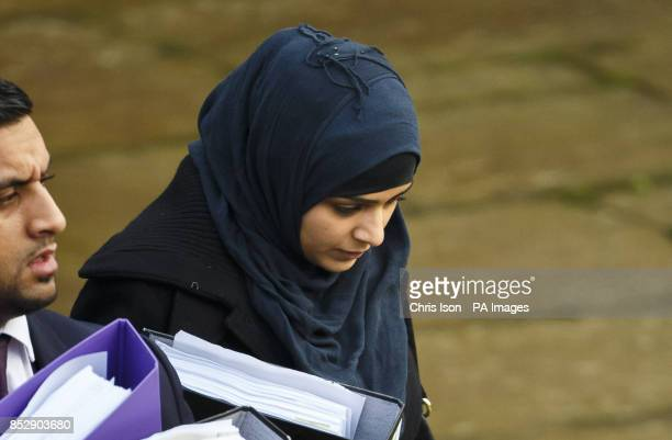 Sugra Hanif from Banbury in Oxfordshire arrives at Winchester Crown Court where the former police constable faces two counts of obtaining and...