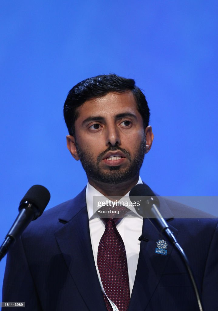 Suhail Mohammed Al Mazrouei, United Arab Emirates' energy minister, speaks during the 22nd World Energy Congress (WEC) in Daegu, South Korea, on Monday, Oct. 14, 2013. The WEC, a global conference on the energy market, will run until Oct. 17. Photographer: SeongJoon Cho/Bloomberg via Getty Images