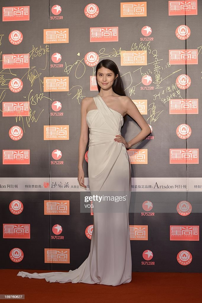 <a gi-track='captionPersonalityLinkClicked' href=/galleries/search?phrase=Sui+He&family=editorial&specificpeople=7496602 ng-click='$event.stopPropagation()'>Sui He</a> attends the 12th Channel Young China Fashion Award on January 18, 2013 in Changshu, Jiangsu Province of China.