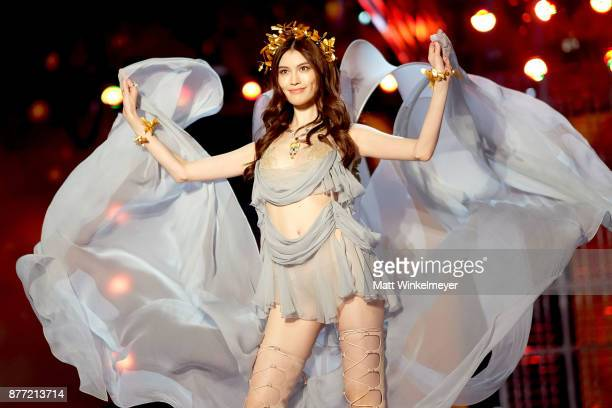Sui He walks the runway during the 2017 Victoria's Secret Fashion Show In Shanghai at MercedesBenz Arena on November 20 2017 in Shanghai China
