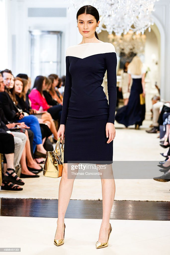 <a gi-track='captionPersonalityLinkClicked' href=/galleries/search?phrase=Sui+He&family=editorial&specificpeople=7496602 ng-click='$event.stopPropagation()'>Sui He</a> walks the runway during the Ralph Lauren resort 2015 showing on June 4, 2014 in New York City.