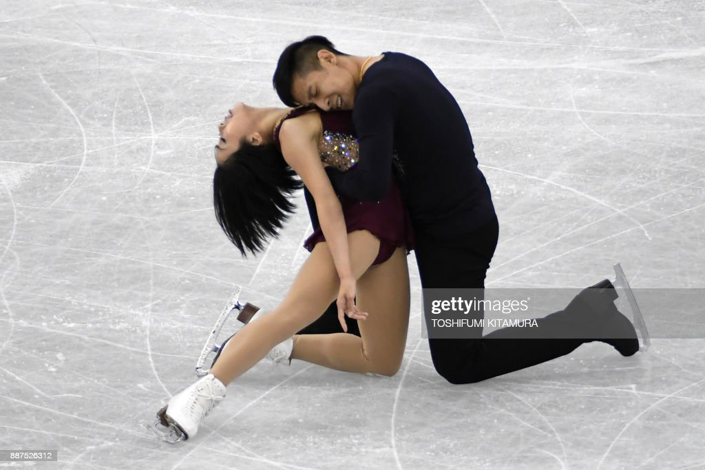 Вэньцзин Суй - Цун Хань / Wenjing SUI - Cong HAN CHN - Страница 11 Sui-wenjing-and-han-cong-of-china-compete-during-the-pairs-short-of-picture-id887526312