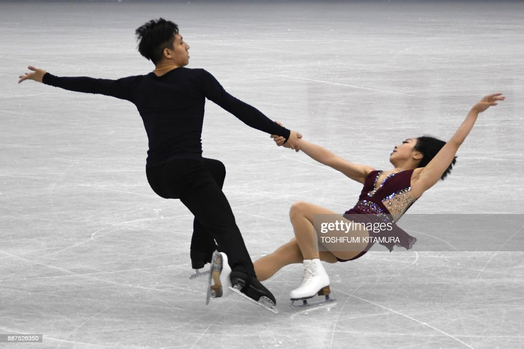 Вэньцзин Суй - Цун Хань / Wenjing SUI - Cong HAN CHN - Страница 11 Sui-wenjing-and-han-cong-of-china-compete-during-the-pairs-short-of-picture-id887526350