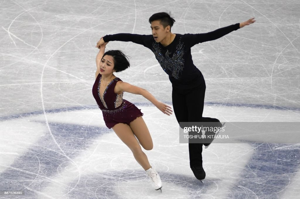 Вэньцзин Суй - Цун Хань / Wenjing SUI - Cong HAN CHN - Страница 11 Sui-wenjing-and-han-cong-of-china-compete-during-the-pairs-short-of-picture-id887526390