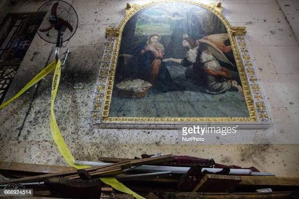 Suicide bombing at St George Church in the Nile Delta town of Tanta Egypt Sunday April 9 2017 Bombs exploded at two Coptic churches in the northern...