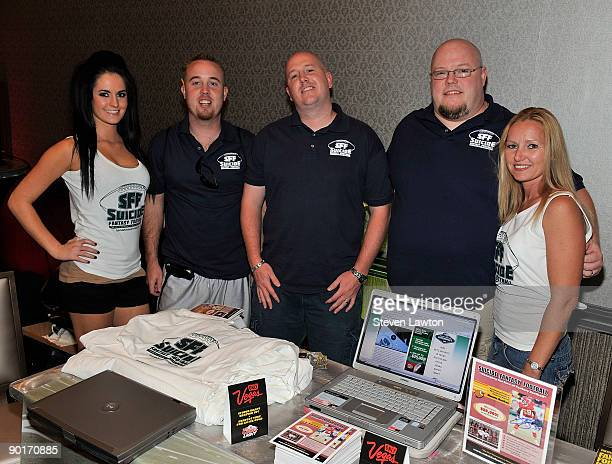 SFF Suicide Fantasy Football Team Alex Wagner Rob Edwards Eric Butz Jim Butz and Betty Berry attend day 2 of the Fantasy Football Superdraft weekend...