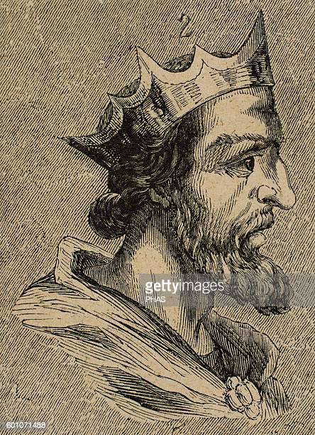 Suintila Visigothic King of Hispania Septimania and Galicia from 621 to 631 Portrait Engraving