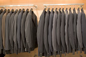 Suit jackets in closet