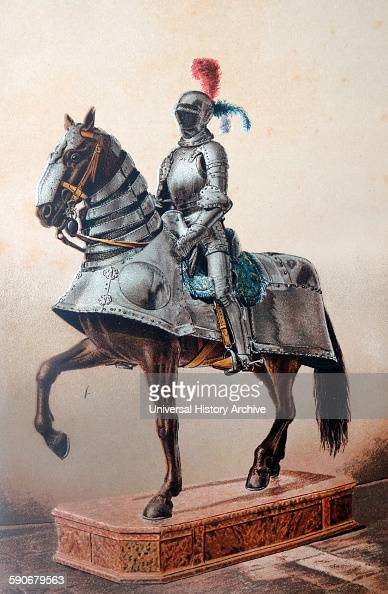 Suit of armour belonging to Hernán Cortés Spanish Conquistador who led an expedition that caused the fall of the Aztec Empire and brought large...