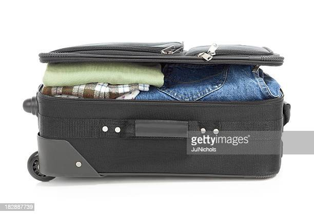 Suitcase with Jeans and Shirts