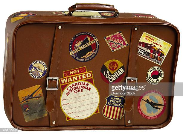 Suitcase with labels