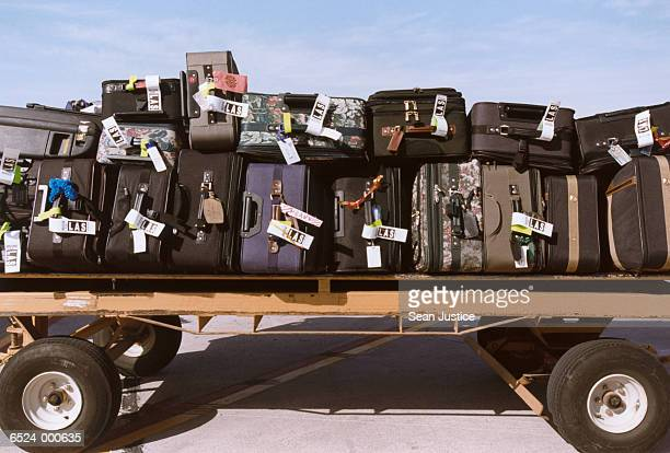 Suitcases on Luggage Cart