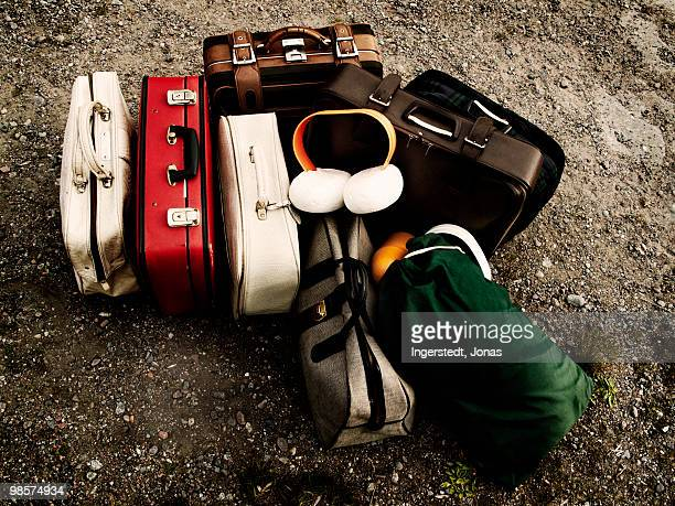 Suitcases on the ground, Sweden.